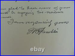 LeHigh Physicist William Suddards Franklin Hand Written Letter Authenticated