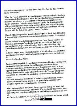 Leo Trotzki original handwritten letter Autograph World rarity hard to find RAR