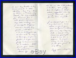 Leon Bourgeois NOBEL PRIZE autograph, handwritten letter signed
