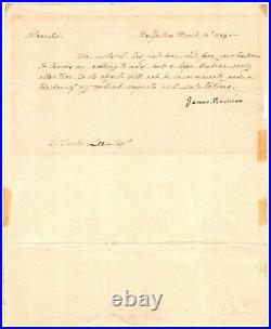 Letter Signed by James Madison & Handwritten by Dolley Madison re Robert E Lee