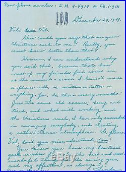 Linda Darnell Handwritten letter December 29, 1949 extrememly rare