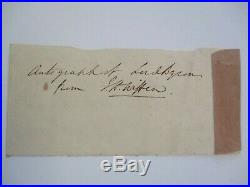 Lord Byron Antique Hand Written Letter Fragment English Poet 18th 19th Century