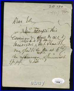 Louis Brandeis JSA Coa Signed Handwritten 1917 Letter Supreme Court Autograph