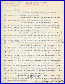 Luigi Pirandello NOBEL PRIZE autograph, handwritten letter signed