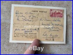 MARLENE DIETRICH handwritten letter autograph post card, signed