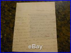 MARTIN VAN BUREN HANDWRITTEN & SIGNED 1822 LETTER PSA/DNA LOA 8th PRESIDENT AUTO