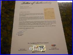 MARTIN VAN BUREN HANDWRITTEN & SIGNED LETTER PSA/DNA LOA 8th PRESIDENT AUTO