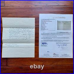 MARTIN VAN BUREN JSA Handwritten AUTOGRAPH Letter SIGNED
