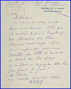 MATA HARI, Handwritten Letter, SIGNED (Autographed Letter Signed) ALS