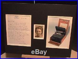 MAVIS BATEY WW2 Codebreaker Authentic Signed HandWritten Letter Display UACC COA