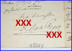MAX REGER, orig. Autograph, Brief 1910, Konzert, J. S. Bach, hand-written letter
