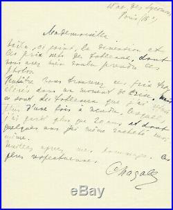 Marc Chagall Artist Autograph handwritten letter authentic original Autogramm