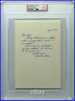 Martin Sheen Signed Hand Written Letter The Departed Badlands PSA Slabbed