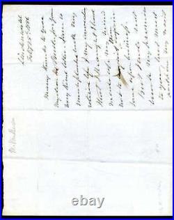 Martin Van Buren JSA Coa Hand Signed 1856 Handwritten Letter Autograph