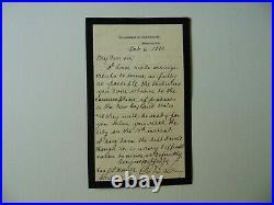 Massachusetts Congressman George B. Loring Hand Written Letter Mueller COA