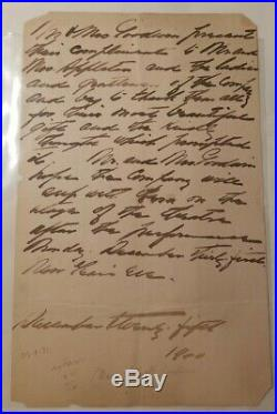 Maxine Elliott Handwritten Letter Unsigned Actress Businesswoman 1900 PSA DNA