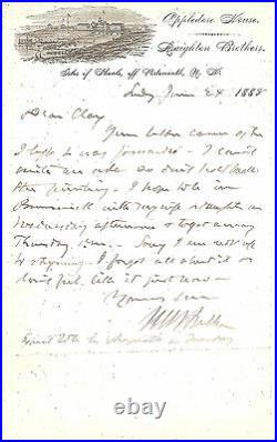 Melville W Fuller, Eighth Chief Justice Handwritten Letter Signed in 1888 with COA