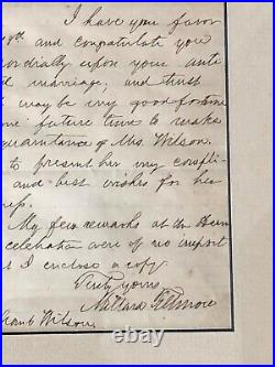Millard Fillmore Signed Autographed Handwritten Letter