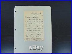 Museum Of Modern Art Founder Joseph Choate Hand Written Letter Mueller COA