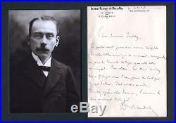 NOBEL PRIZE 1921 IMMUNOLOGIST Jules Bordet autograph, handwritten letter signed
