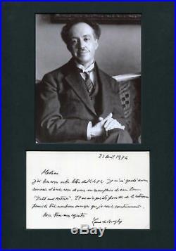 NOBEL PRIZE 1929 PHYSICIST Louis-Victor de Broglie autograph, handwritten letter
