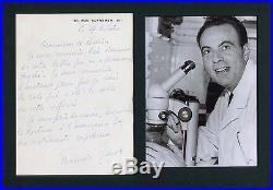 NOBEL PRIZE 1965 Francois Jacob autograph, handwritten letter signed