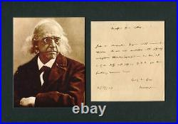 NOBEL PRIZE IN LITERATURE Theodor Mommsen autograph, handwritten letter signed &