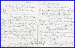 NOBEL PRIZE IN MEDICINE 1967 George Wald autograph, handwritten letter