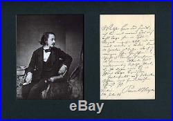 NOBEL PRIZE WRITER Paul Heyse autograph, handwritten letter signed