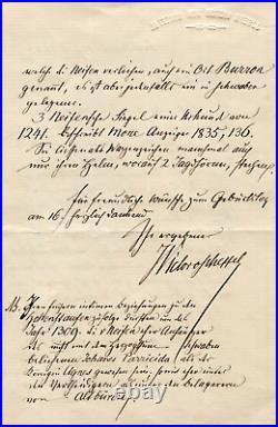 NOVELIST Joseph Victor von Scheffel autograph, handwritten letter signed