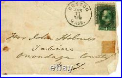 NY Yacht Club John Malcolm Forbes Hand Written Letter Dated 1879 Mueller COA