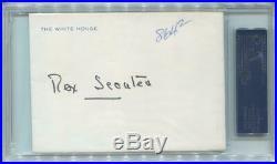 Nancy Reagan Handwritten & Signed Letter, Official White House Stationary. PSA