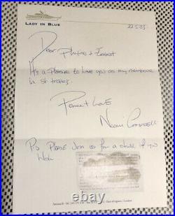 Naomi Campbell Hand Written Signed Letter Original