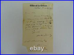 New York Tribune Horace Greeley Hand Written Letter Dated 1865 PAAS COA