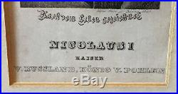 Nicolaus Nicholas I Emperor Tsar Russia Engraving Hand Written Letter Autograph