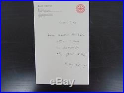 Nobel Peace Prize Elie Wiesel Hand Written Letter Todd Mueller COA