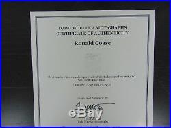 Nobel Prize In Economics Ronald Coase Hand Written Letter Todd Mueller COA