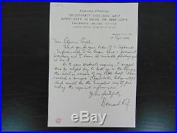 Nobel Prize in Medicine Bernard Katz Hand Written Letter PAAS COA