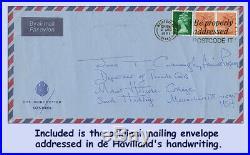 Olivia de Havilland-Autographed 1981 Handwritten Letter, Envelope & FREE Photo