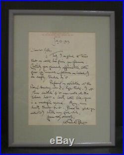 Original Handwritten Letter From Sir William Russell Flint, R. A