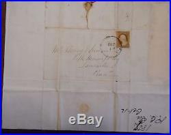 Original Handwritten Letter by Robt. E. Lee. Dated San Antonio, Oct. 12, 1857