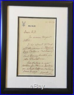 Original MEL BLANC Hand Written Signed Letter Autograph Hanna-Barbera Voices
