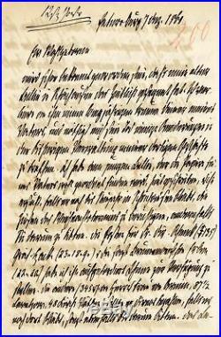 Otto von Bismarck GERMAN STATESMAN autograph, handwritten letter signed