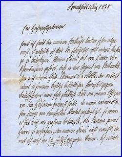 Otto von Bismarck PRUSSIAN autograph, handwritten letter signed