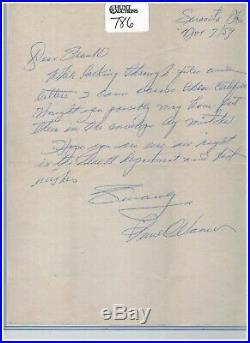 PAUL WANER Signed Handwritten Letter HOF From 1959 Auto Autograph d1965