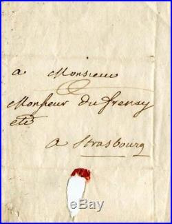PHILOSOPHER Voltaire autograph, handwritten letter signed