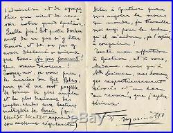 POET Filippo Tommaso Marinetti FUTURIST MANIFESTO autograph, handwritten letter