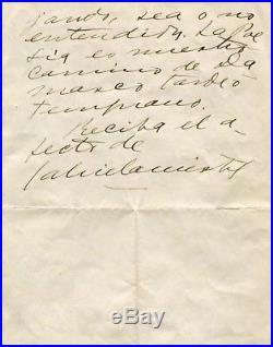 POET Gabriela Mistral NOBEL PRIZE 1945 autograph, handwritten letter signed