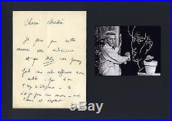 POET Jean Cocteau TOP autograph, handwritten letter signed