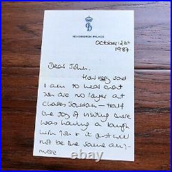 PRINCESS DIANA BAS Beckett Autograph Handwritten 3 Page Letter Signed
